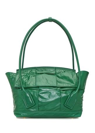 Bottega Veneta Kadın The Arca Slouch Yeşil Deri Omuz Çantası EU female Standart