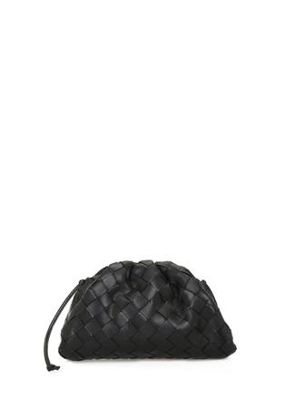 Bottega Veneta Kadın The Pouch Mini Siyah Deri Çanta EU female Standart