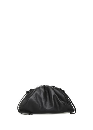 Bottega Veneta Kadın The Pouch Siyah Deri Çanta EU female Standart