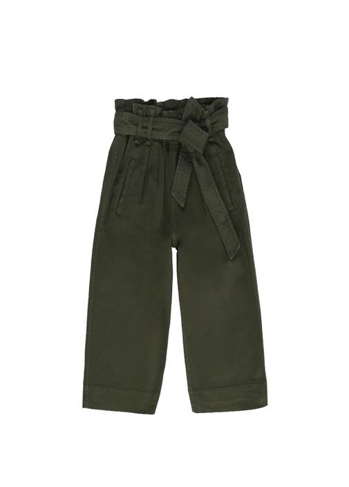 Yüksek Bel Kemerli Bol Paça Kız Çocuk Pantolon
