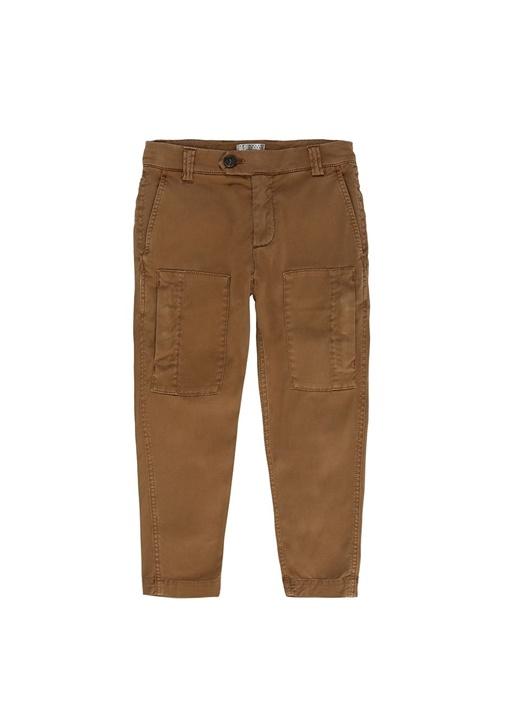 Kamel Normal Bel Erkek Çocuk Kargo Pantolon
