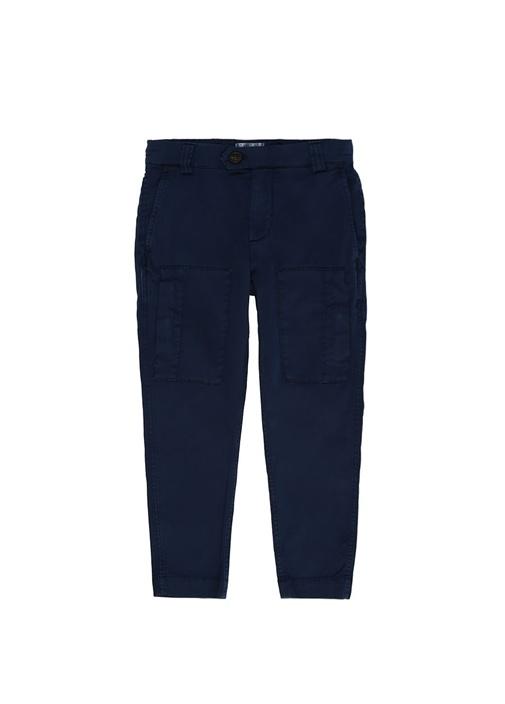 Lacivert Normal Bel Erkek Çocuk Kargo Pantolon