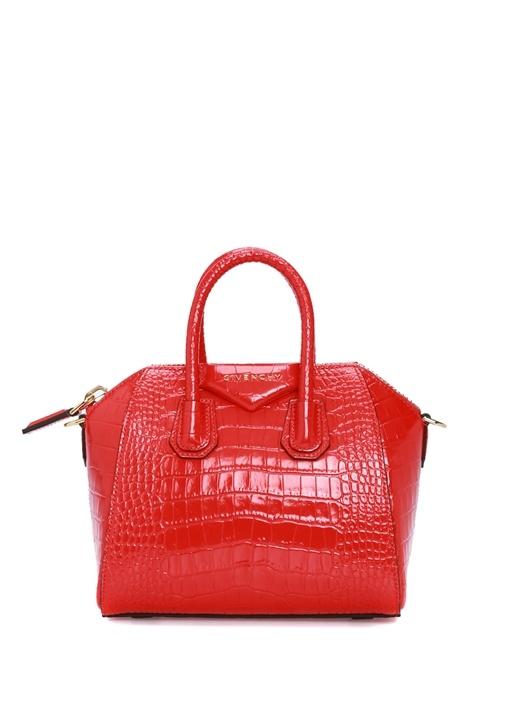 Antigona Mini Kırmızı Kadın Deri Omuz Çantası