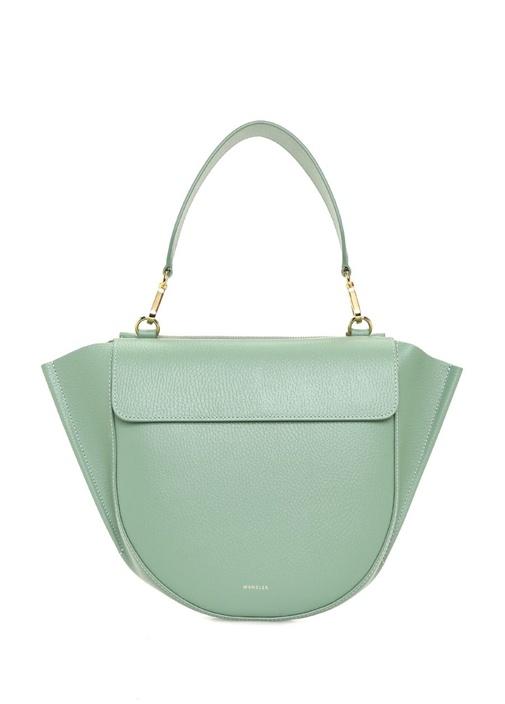 Hortensia Medium Yeşil Kadın Deri Omuz Çantası