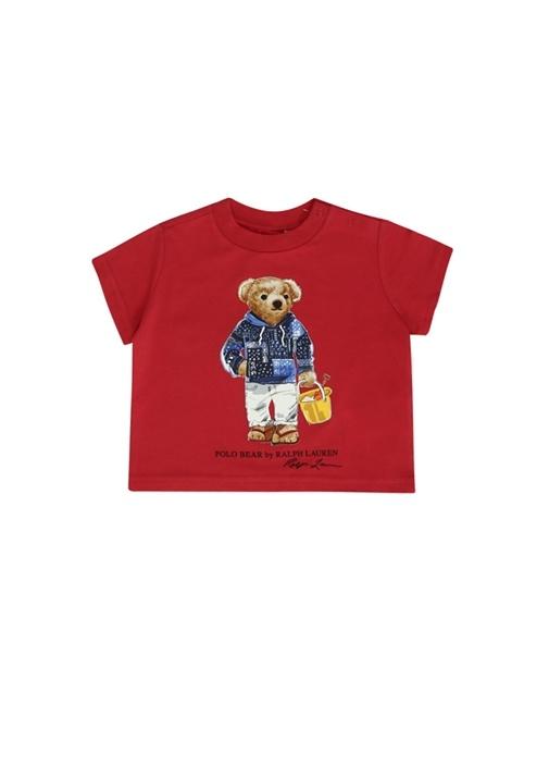 Kırmızı Ayıcık Baskılı Erkek Bebek T-shirt