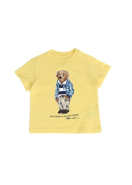 Sarı Ayıcık Baskılı Erkek Bebek T-shirt