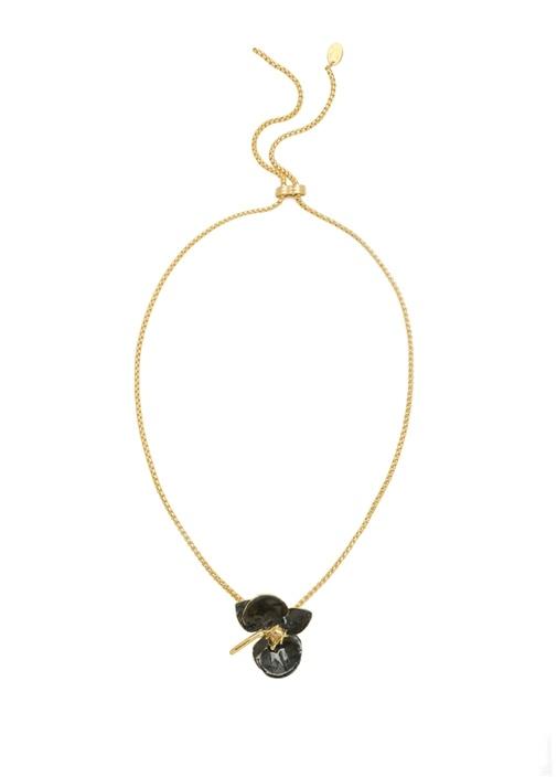 Gold Orkide Formlu Kadın Kolye