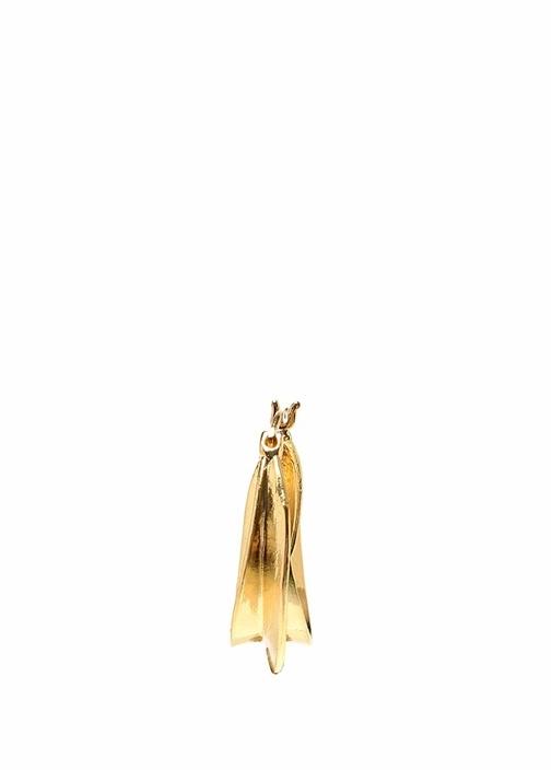 Gold Dalgalı Kadın Halka Küpe