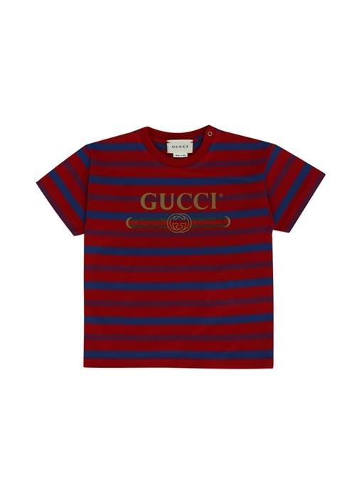 Kırmızı Logo Baskılı Erkek Bebek T-shirt