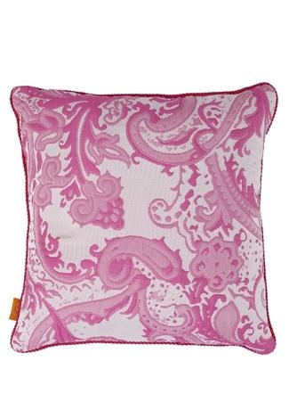 Etro Home Pembe Şal Desenli 45x45 Dekoratif Yastık Standart