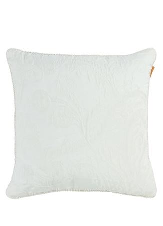 Etro Home Beyaz Şal Desenli 45x45 cm Dekoratif Yastık Bej Standart