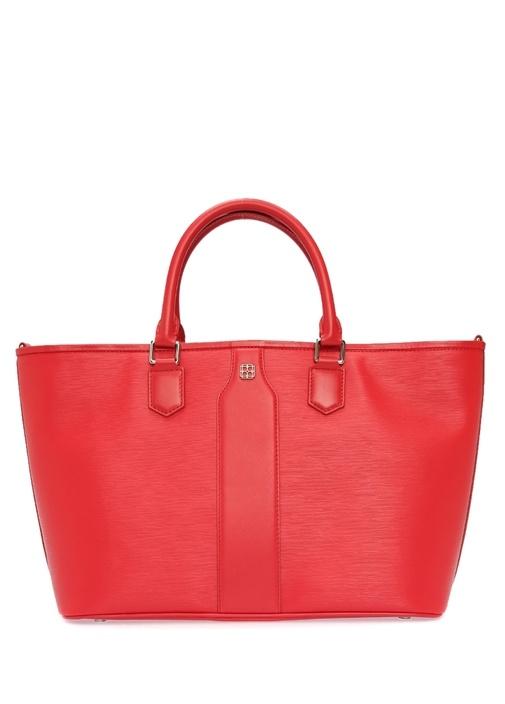 Bella Kırmızı Logolu Kadın Alışveriş Çantası