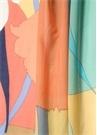 Colorblocked Çiçek Desenli Kadın Şal