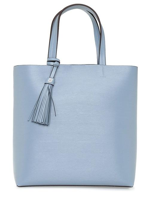 Aden Mavi Logolu Kadın Alışveriş Çantası
