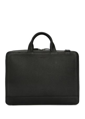 Beymen Hediye Erkek Siyah Logolu Deri Laptop Çantası EU male Standart