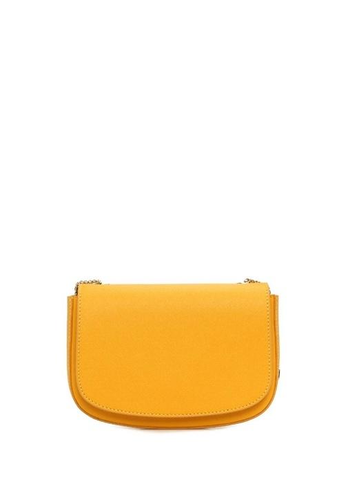 Essential Sarı Zincirli Kadın Çapraz Çanta