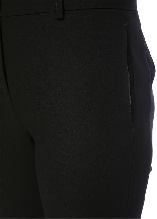 Siyah Normal Bel Krep Cigarette Pantolon
