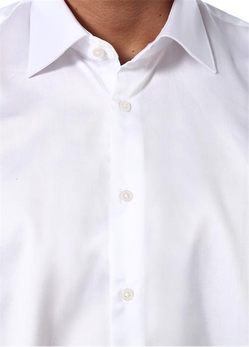 Beyaz İngiliz Yaka Klasik Formal Gömlek