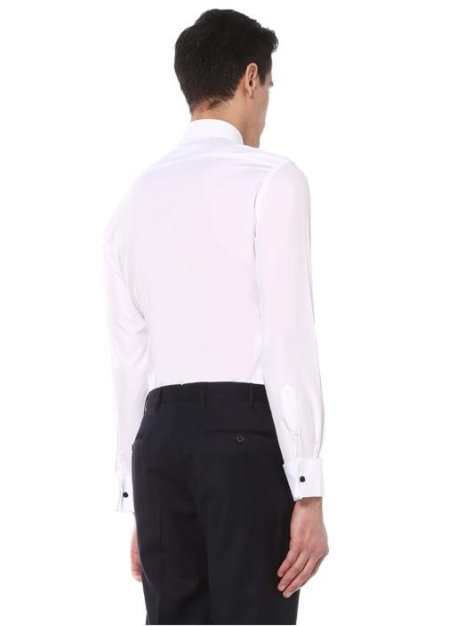 Beyaz Standart Fit Klasik Gömlek