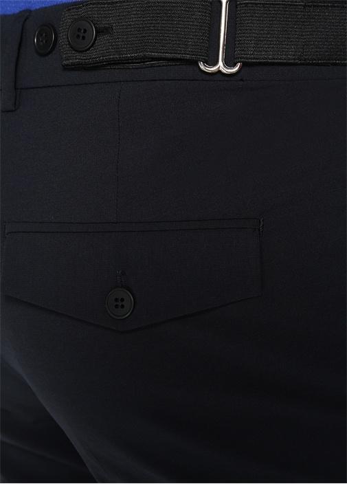Lacivert Kemer Detaylı Pantolon
