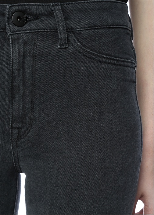 Trimtone Antrasit Yüksek Bel Skinny Jean Pantolon