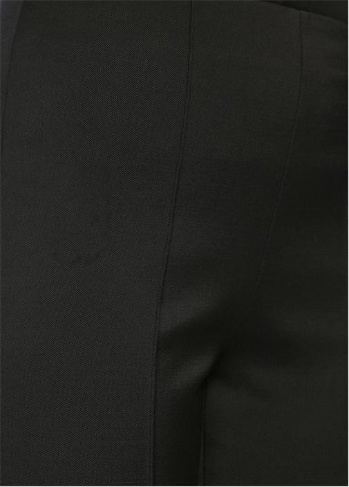 Siyah Yüksek Bel Boru Paça Pantolon