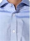Custom Fit Mavi Italyan Yaka Gömlek