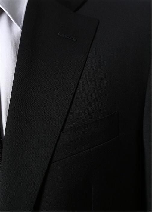 Siyah 7 Drop Yün Blazer