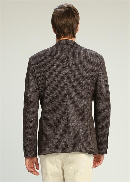 Drop 8 Kahverengi Kelebek Yaka Jersey Ceket