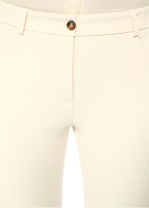 Ekru Normal Bel Dar Paça Pantolon