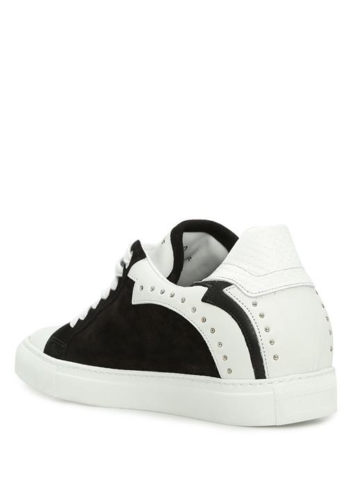 Nash Siyah-Beyaz Deri Kadın Sneaker