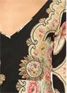 Çok Renkli Çiçekli Asimetrik Midi Elbise
