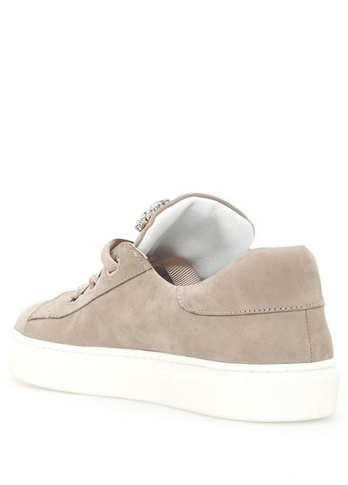 Gri Taş Detaylı Kadın Sneaker
