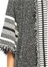 Siyah Beyaz Dokulu Salaş Uzun Hırka