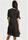 Siyah Kolları Bağlama Detaylı Mini Elbise