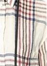 Kapüşonlu Ekoseli Keten Tunik Gömlek