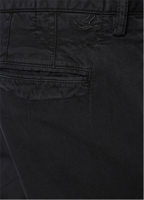 Siyah Dokulu Slim Fit Chino Pantolon