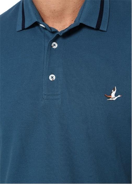 Comfort Fit Mavi Polo Yaka Tshirt