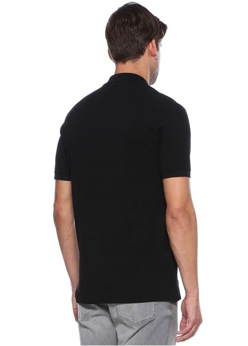 Siyah Polo Yaka Comfort Fit Tshirt