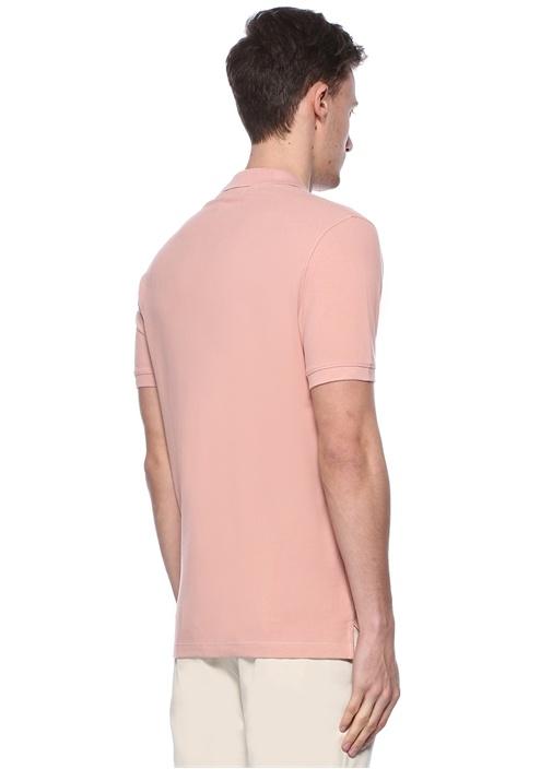 Comfort Fit Pembe Logolu Pike Dokulu T-shirt