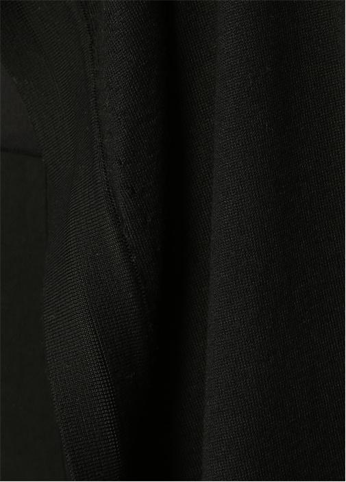 Siyah Şal Yaka Kolsuz Kısa Triko Yelek