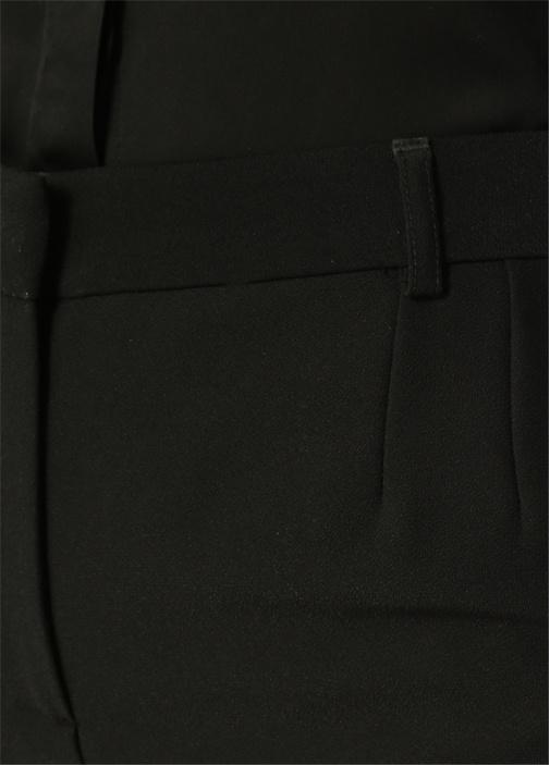 Siyah Krep Dar Paça Pantolon