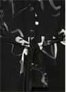 Siyah İpek Gül Desenli Kuşaklı Tulum