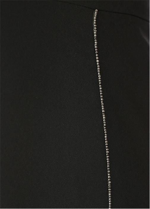 Siyah Krep Geniş Paça Pantolon