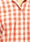 Kırmızı Kareli Düşük Kol Gömlek