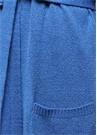 Midi Boy Kuşaklı Mavi Hırka