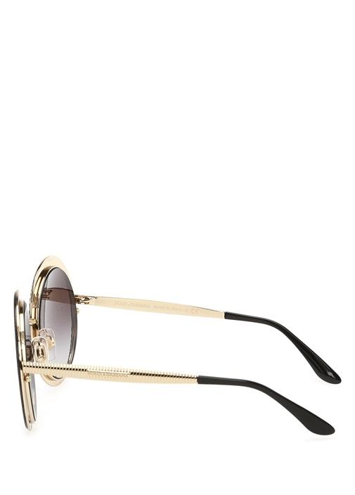 Siyah Oval Formlu Kadın Güneş Gözlüğü