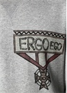Gri Bisiklet Yaka Yazı Baskılı Sweatshirt