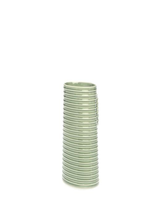 Pipanella Lines Oval Yeşil Porselen Vazo