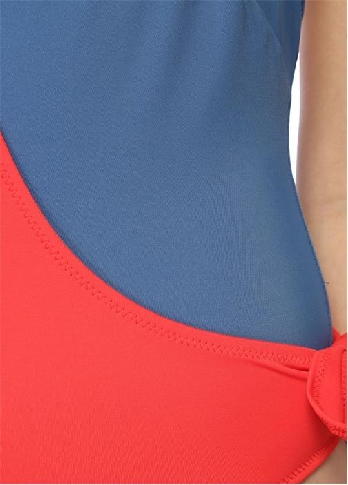 Matilde Kırmızı Mavi Bağcıklı Mayo